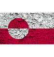 Flag of greenland with old texture vector