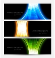 Set of abstract bright banners vector