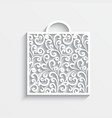 Ornamental paper bag vector