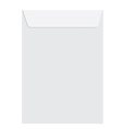 White closed envelope vector