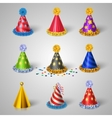 Party hat icons set vector