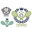 Tennis championship emblems or badges vector