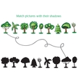 Trees and silhoutte of trees - game for children vector