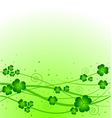 Lucky clover background vector