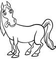 Farm horse cartoon for coloring book vector