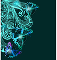 Colorful background with butterfly and floral vector