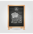 Beer in mag chalk drawing poster vector