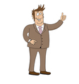 Business man character isolated on white vector