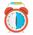 30 - thirty minutes stop watch - alarm clock vector