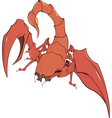 Nice red scorpion cartoon vector