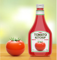 Ketchup bottle vector