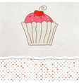 Retro card with cupcake eps 8 vector