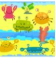 Cute crabs vector