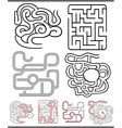 Mazes or labyrinths diagrams set vector