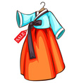 A simple drawing of a dress for sale vector
