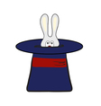 Rabbit in magic hat vector