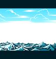 Retro ocean landscape vector