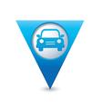 Car icon map pointer blue vector