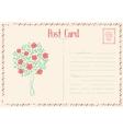 Rose bush postcard vector