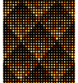 Halftone rhombus tiles gold metal colors seamless vector