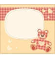 Card with the teddy bear for baby shower vector