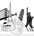 Travel over the world vector