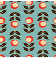 Seamless floral background retro style vector