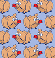 Cartoon pig background vector