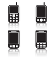 Mobile phones icons vector