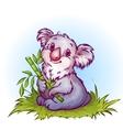 Koala in cartoon style vector
