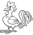 Farm rooster cartoon for coloring book vector