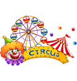 A clown at the circus show vector
