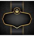 Royal black background vector