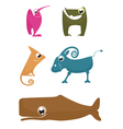 Cartoon funny animals vector