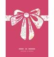 Folk floral circles abstract gift bow vector