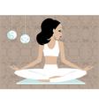 Miss boo yoga vector