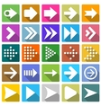 25 arrow icon set vector