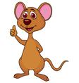 Cute mouse cartoon thumb up vector