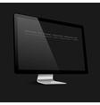 Stylish computer black screen on black background vector