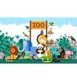 Zoo background vector