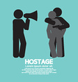 Robbery hostage and policeman graphic symbol vector