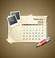 Calendar february 2014 vector