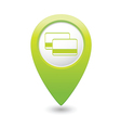 Credit cards icon green map pointer vector