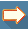 Retro arrow banner vector