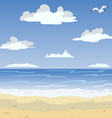 Sunny sea beach and blue sky vector