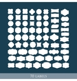 Set of 70 retro label shapes for design vector