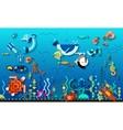 Underwater world concept vector