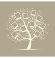 Family tree design insert your photos into frames vector