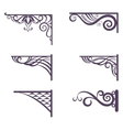 Vintage brackets for signboard silhouettes vector