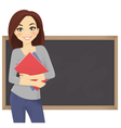 Student with books vector